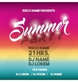 Advertising icon Summer Party and Disco vector image