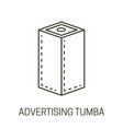advertising tumba or banner stand isolated line vector image