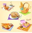 Bakery cartoon set vector image