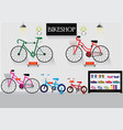 bicycle stores or bike shops vector image vector image