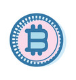 bitcoin virtual currency business icon vector image