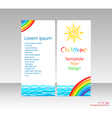 Brochure with bright cover picture vector image vector image