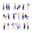 business people flat set vector image