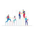 business team - flat design style colorful vector image vector image