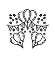 celebration icon doddle hand drawn or black vector image