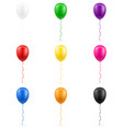 celebratory balloons pumped helium with ribbon vector image vector image