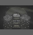 chalk baby shower invitation vector image vector image