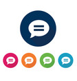 chat icon set conversation symbol design vector image