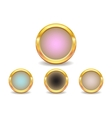 color metal buttons vector image