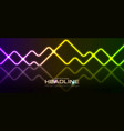 colorful geometric neon laser lines abstract vector image vector image