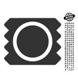 condom icon with professional bonus vector image vector image