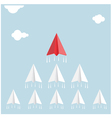 Creative paper rocket sign vector image