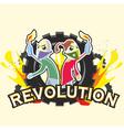 CRISIS Logo Revolution vector image