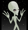 cute green alien extraterrestrial vector image vector image