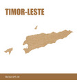 detailed map of timor-leste or east timor cut out vector image