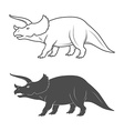 Dinosaurs on white background vector image