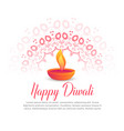 diwali festival burning diya and mandala art vector image
