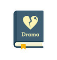 drama literary genre book icon flat isolated vector image vector image