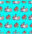 easter bunny seamless pattern3 vector image vector image