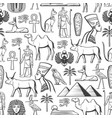 egypt travel and religion seamless pattern vector image vector image