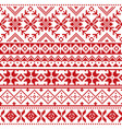 fair isle traditional knitwear pattern vector image vector image