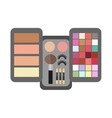 flat make up cosmetic vector image vector image