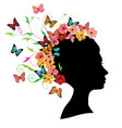 floral hair vector image vector image