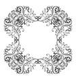 floral vintage frame black decorative ornament vector image vector image