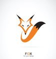 Fox design on white background vector image vector image