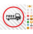 free delivery rounded icon with bonus vector image vector image