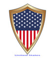 glossy label made in usa on white vector image vector image