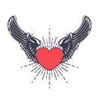 heart angel design elements vector image vector image
