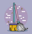 housework domestic service to clean home vector image vector image