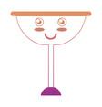 kawaii wine glass icon vector image vector image