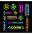 Light neon labels vector image vector image