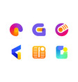 logo or icon of letter g for global cryptocurrency vector image vector image