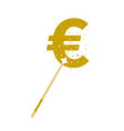 magic wands with euro currency shape vector image vector image