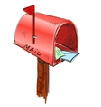 Mailbox cartoon icon vector | Price: 1 Credit (USD $1)
