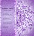 mandala invitation vector image vector image