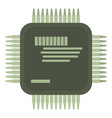 microprocessor icon cartoon style vector image