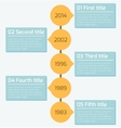 modern timeline infographics design template vector image vector image