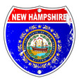 new hampshire flag icons as interstate sign vector image vector image