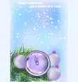 new year background with clock vector image vector image