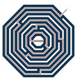 octagonal labyrinth vector image