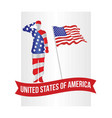 patriotic soldier salute image vector image