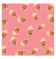 pattern ice cream vector image vector image