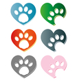 Paws vector image vector image