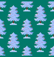 pine tree cartoon green winter holiday vector image vector image