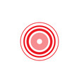 pink circle inside red rings vector image vector image