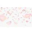 pink sakura falling petals background vector image